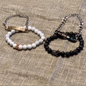 Jewelry - His + Hers Chained and Beaded Bracelet Set